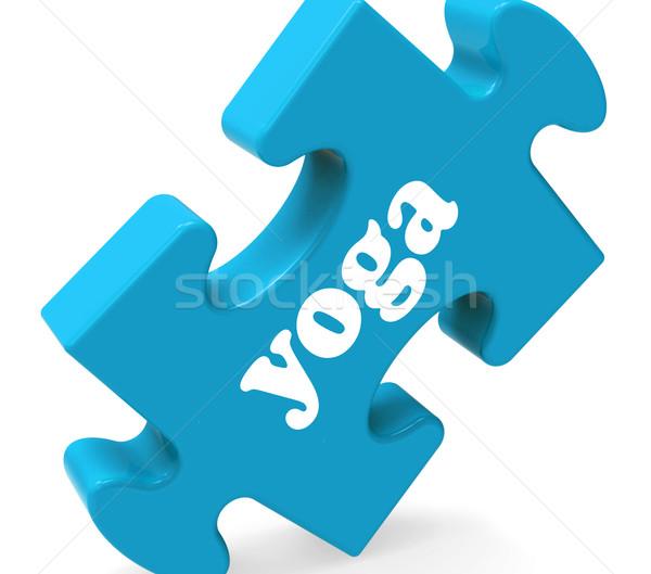 Jóga puzzle meditáció pihenés mutat Stock fotó © stuartmiles