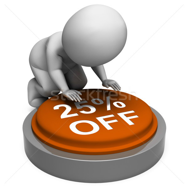 Twenty-Five Percent Off Button Means 25 Reduced Price Stock photo © stuartmiles