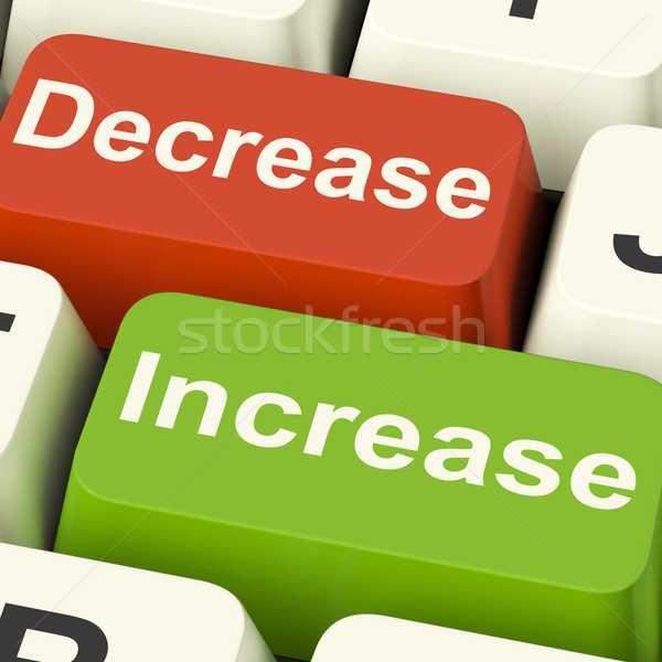 Decrease Increase Keys Shows Decreasing Or Increasing Stock photo © stuartmiles