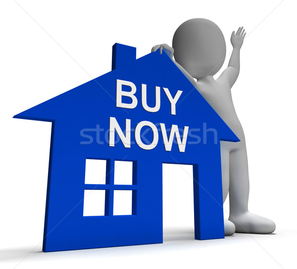 Stock photo: Buy Now House Shows Property For Sale