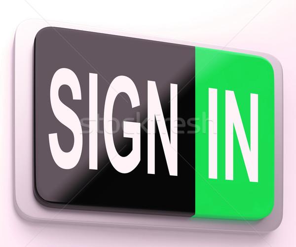 Signe bouton ligne Photo stock © stuartmiles