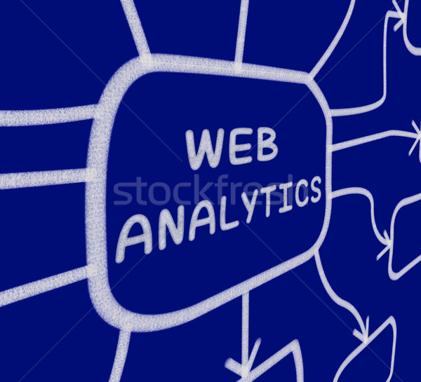 Web Analytics Diagram Means Collection And Analysis Of Online Da Stock photo © stuartmiles