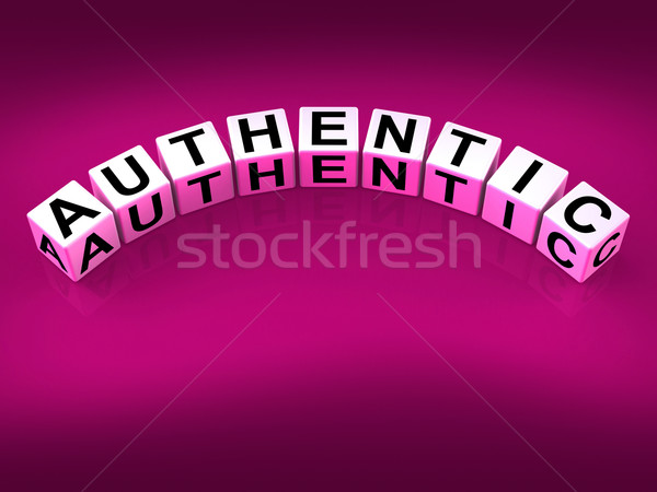 Authentic Blocks Show Certified and Verified Authenticity Stock photo © stuartmiles