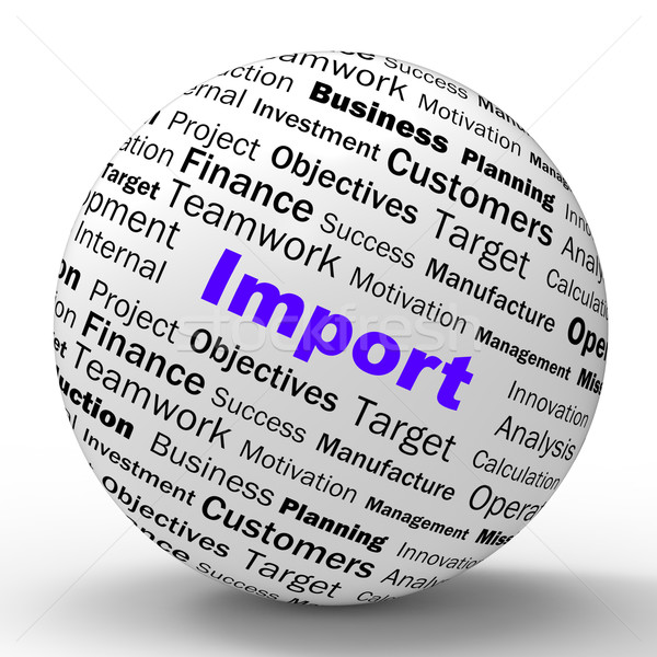 Zdjęcia stock: Import · sferze · definicja · dobre · międzynarodowych
