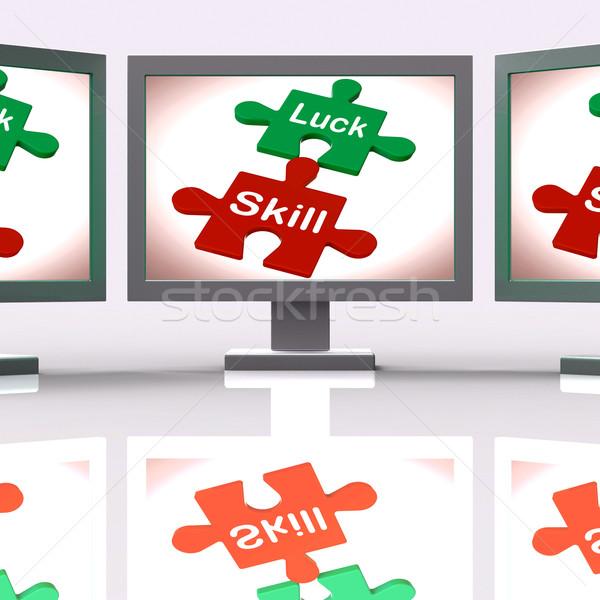 мастерство головоломки экране компетентный смысл Сток-фото © stuartmiles
