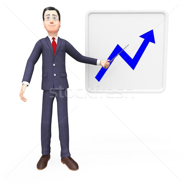 Vooruitgang grafiek financieren statistisch financiële betekenis Stockfoto © stuartmiles