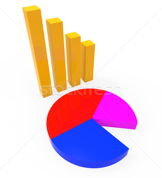 Graph Report Shows Graphs Charts And Infochart Stock photo © stuartmiles
