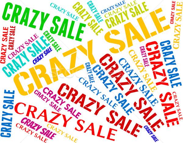 Louco venda palavras varejo lunático Foto stock © stuartmiles