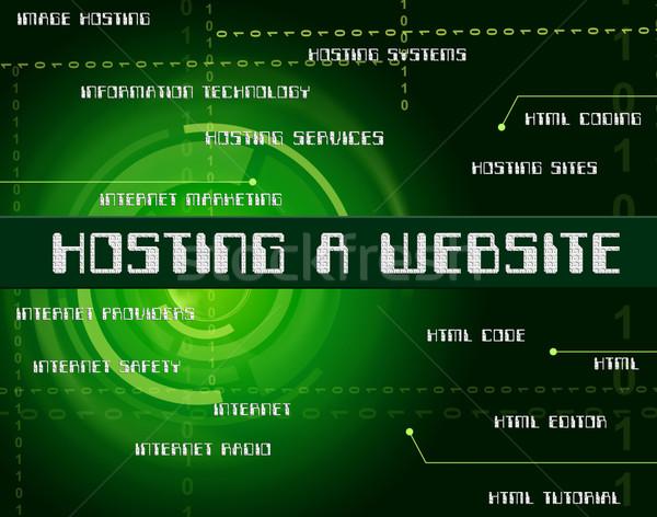 Hosting weboldal webhosting internet domain WWW Stock fotó © stuartmiles