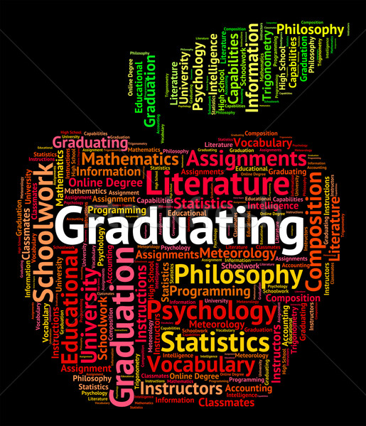 Graduating Word Indicates Studies College And Passing Stock photo © stuartmiles