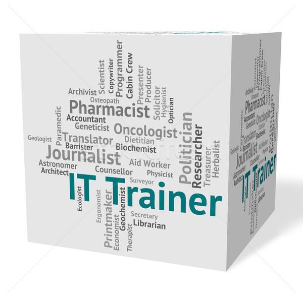 Tecnología de la información entrenador comunicación palabras Internet trabajo Foto stock © stuartmiles