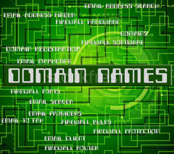 Domain Names Means Empire Label And Word Stock photo © stuartmiles