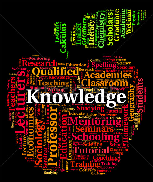 Knowledge Word Shows Proficiency Expertness And Wise Stock photo © stuartmiles