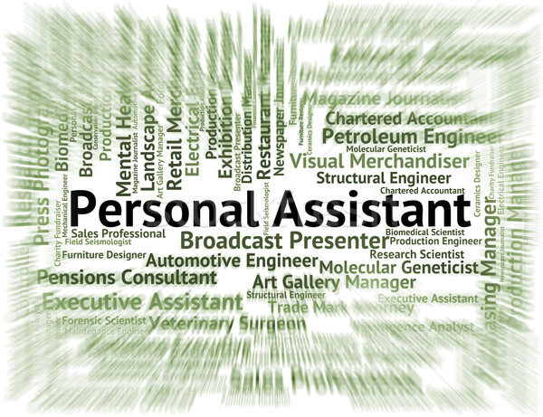 Personal Assistant Means Pa Job And Deputy Stock photo © stuartmiles
