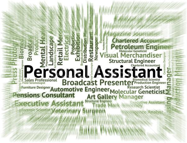 Persoonlijke assistent baan plaatsvervanger privacy werk Stockfoto © stuartmiles