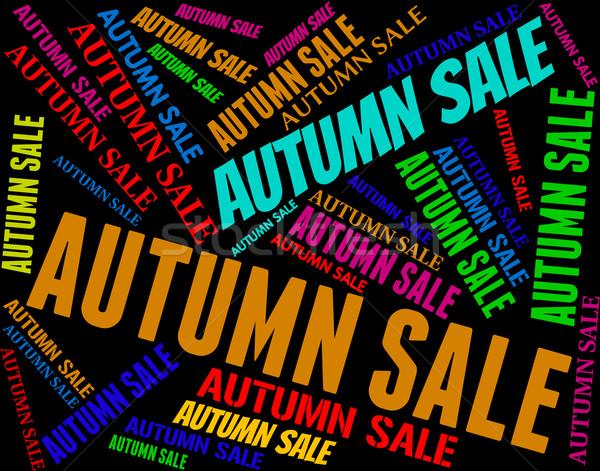 ősz vásár kiskereskedelem szezonális csökkentés őszi Stock fotó © stuartmiles