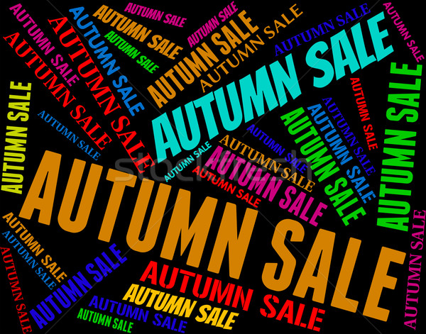 Outono venda varejo sazonal redução Foto stock © stuartmiles