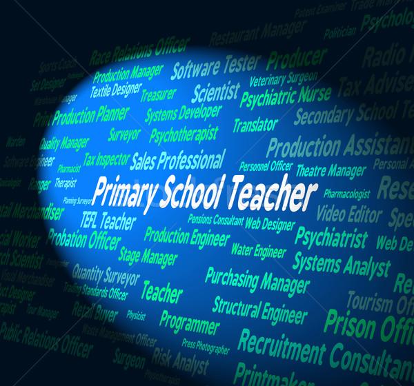 Escola primária professor dar educar treinador Foto stock © stuartmiles