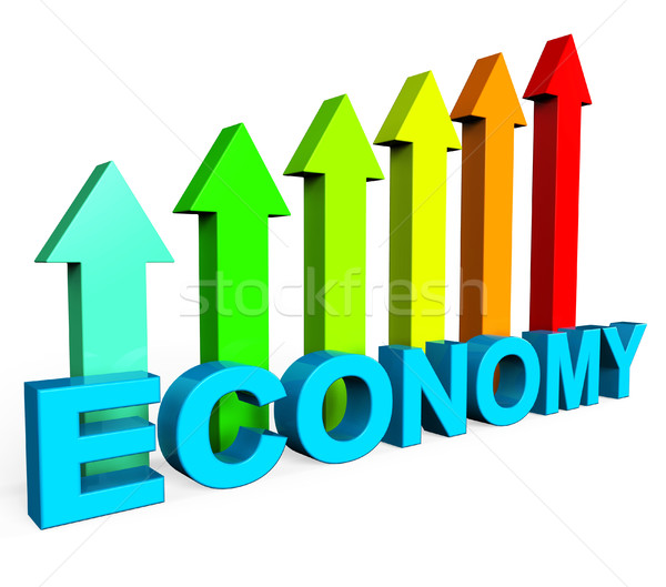 Improve Economy Shows Business Graph And Advance Stock photo © stuartmiles