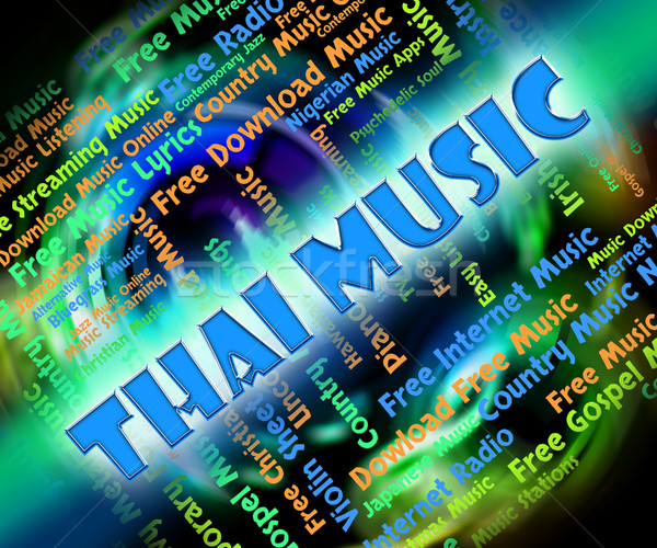 Thai Music Shows Sound Track And Acoustic Stock photo © stuartmiles