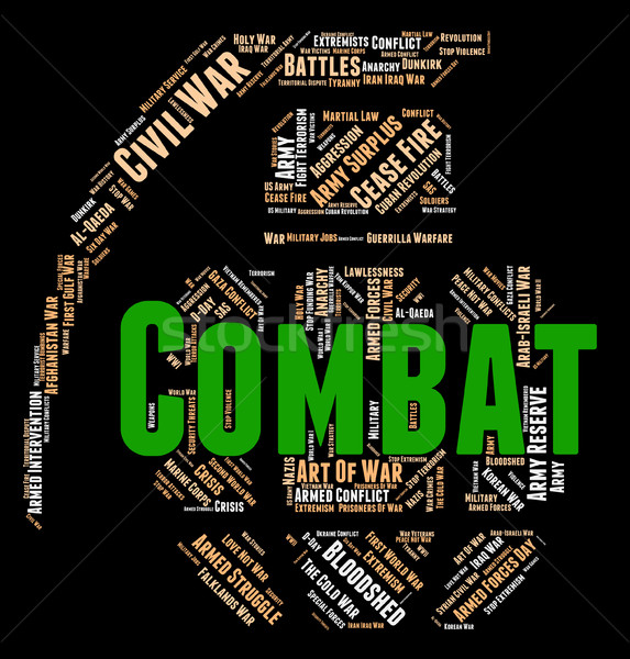 Combat Word Shows Combats Warfare And Attack Stock photo © stuartmiles