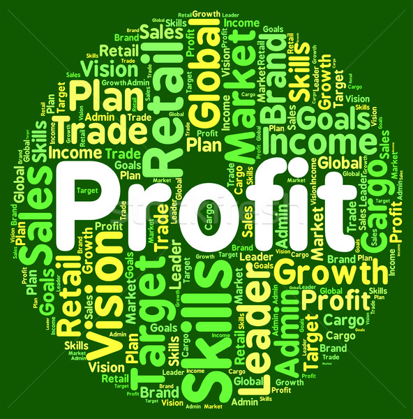 Profit Word Means Wordclouds Investment And Text Stock photo © stuartmiles