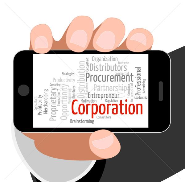 Stockfoto: Corporatie · woord · bedrijven · corporate · woorden · uitvoerende