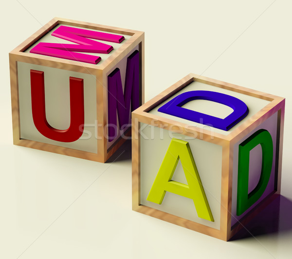Kids Blocks Spelling Mum And Dad As Symbol for Parenthood Stock photo © stuartmiles