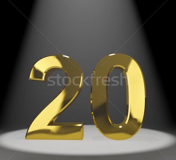 Gold 20th Or Twenty 3d Number Representing Anniversary Or Birthd Stock photo © stuartmiles