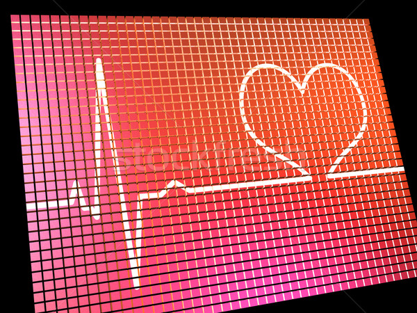 Heart Rate Display Monitor Showing Cardiac And Coronary Health  Stock photo © stuartmiles
