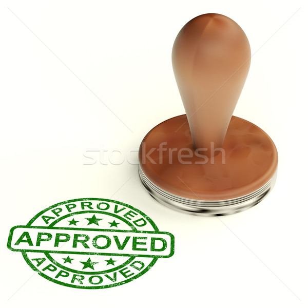 Stock photo: Approved Stamp Shows Quality Excellent Products