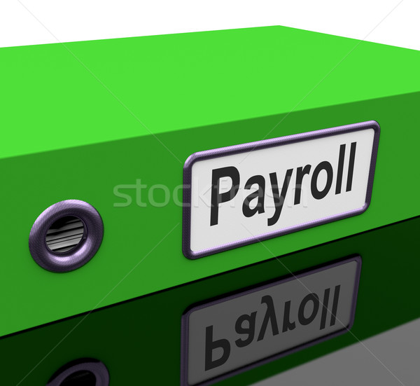 Payroll File Contains Employee Timesheet Records Stock photo © stuartmiles