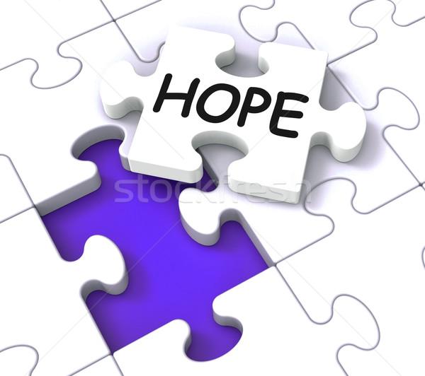 Nadzieję puzzle wiary Zdjęcia stock © stuartmiles