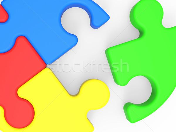 Unfinished Puzzle Shows Final Piece Stock photo © stuartmiles