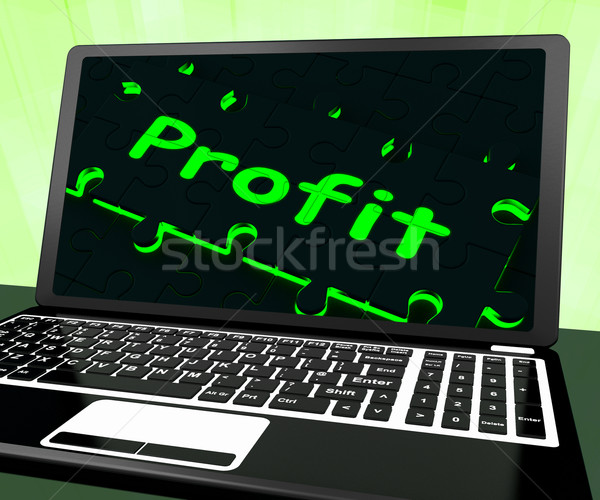 Profit On Laptop Shows Profitable Earns Stock photo © stuartmiles