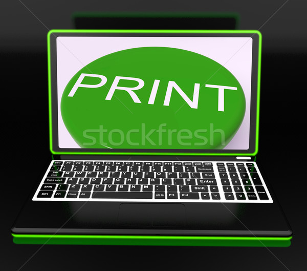 Print On Monitor Showing Printer Stock photo © stuartmiles