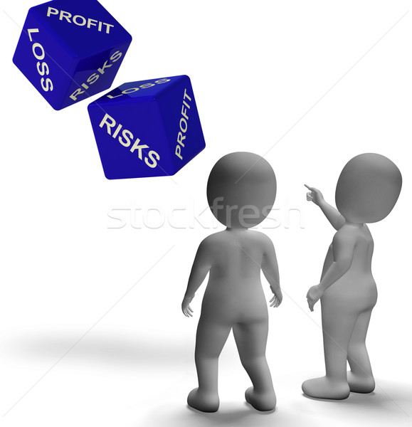 Profit Loss Dice Shows Returns For Business Stock photo © stuartmiles