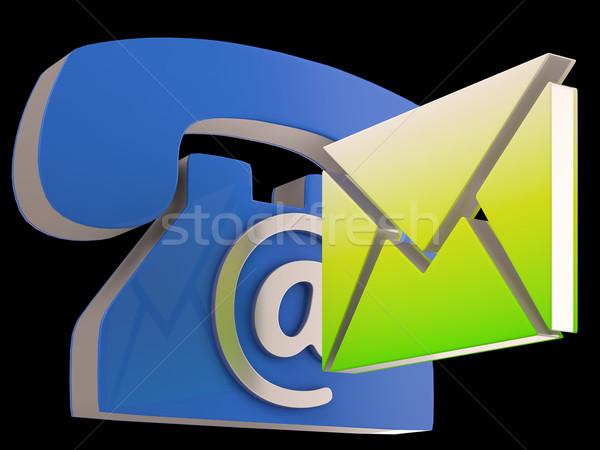 Telefono busta telefono e-mail corrispondenza Foto d'archivio © stuartmiles