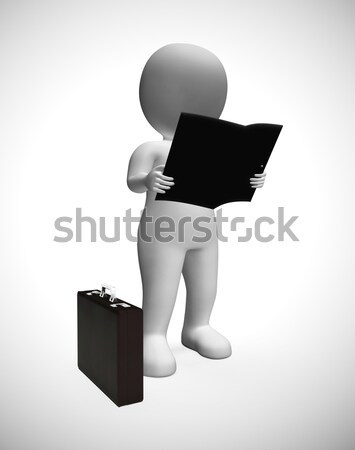 Delivery By 3d Character Showing Packages Postal Stock photo © stuartmiles
