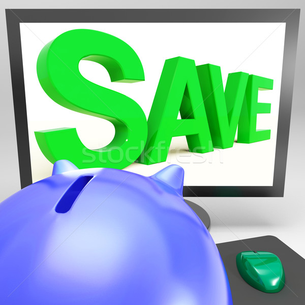 Save On Monitor Showing Cheap Shopping Stock photo © stuartmiles
