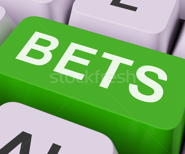 Bets Key Shows Online Or Internet Gambling Stock photo © stuartmiles