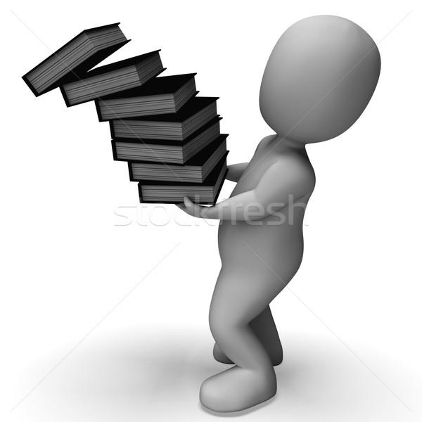 Bestanden tonen onhandig kantoor documenten vallen Stockfoto © stuartmiles