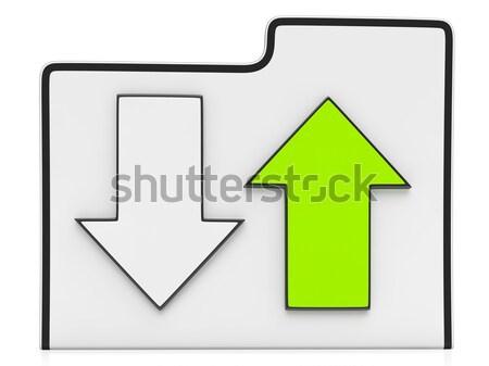 Downloading and Uploading Data Icon Stock photo © stuartmiles