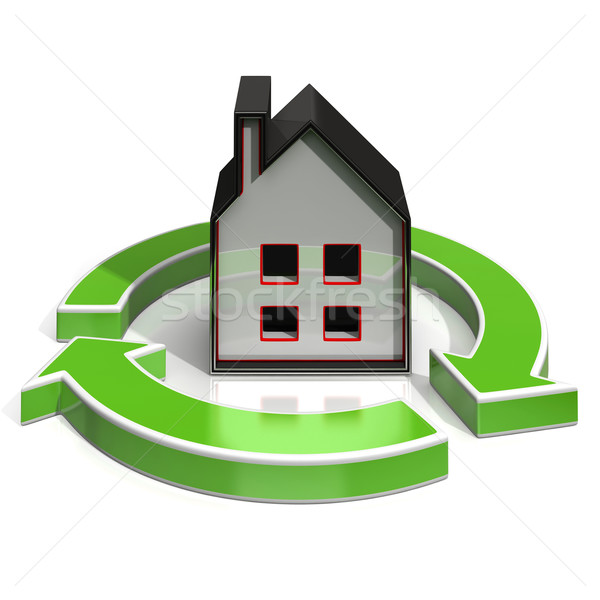 House Icon Shows Home Investing Stock photo © stuartmiles