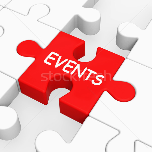 Events Puzzle Means Occasion Event Or Function Stock photo © stuartmiles