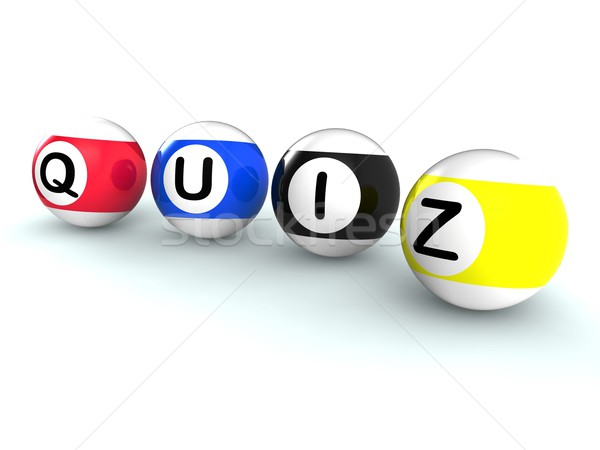 Quiz Word Shows Test Or Quizzing Stock photo © stuartmiles