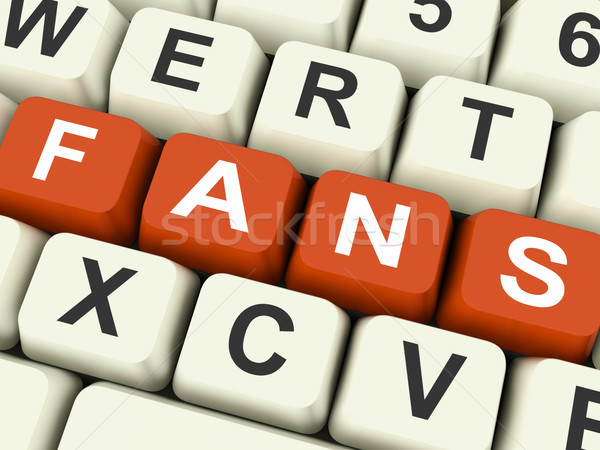 Fanlar tuşları göstermek takipçi Internet arkadaş Stok fotoğraf © stuartmiles