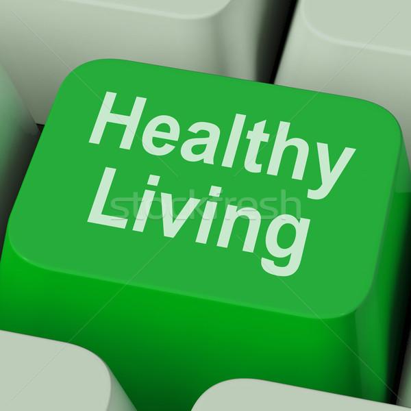 Sağlıklı yaşam anahtar sağlık diyet uygunluk Stok fotoğraf © stuartmiles