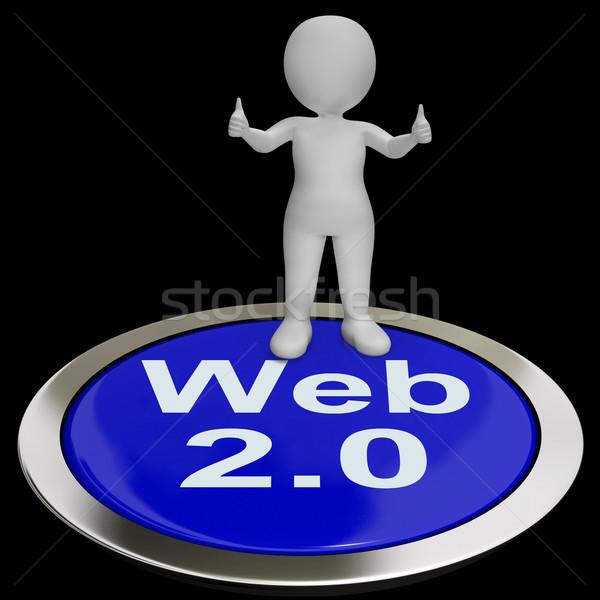 Web 20 bouton internet version plate-forme Photo stock © stuartmiles