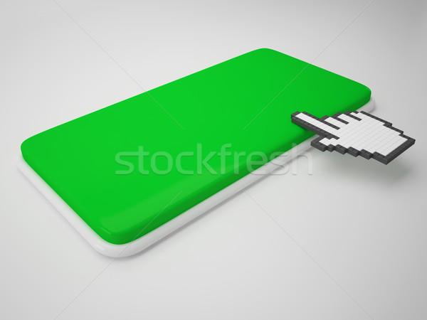 Cursor mão chave cópia espaço clique aqui Foto stock © stuartmiles
